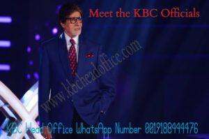 kbc head office whatsapp number